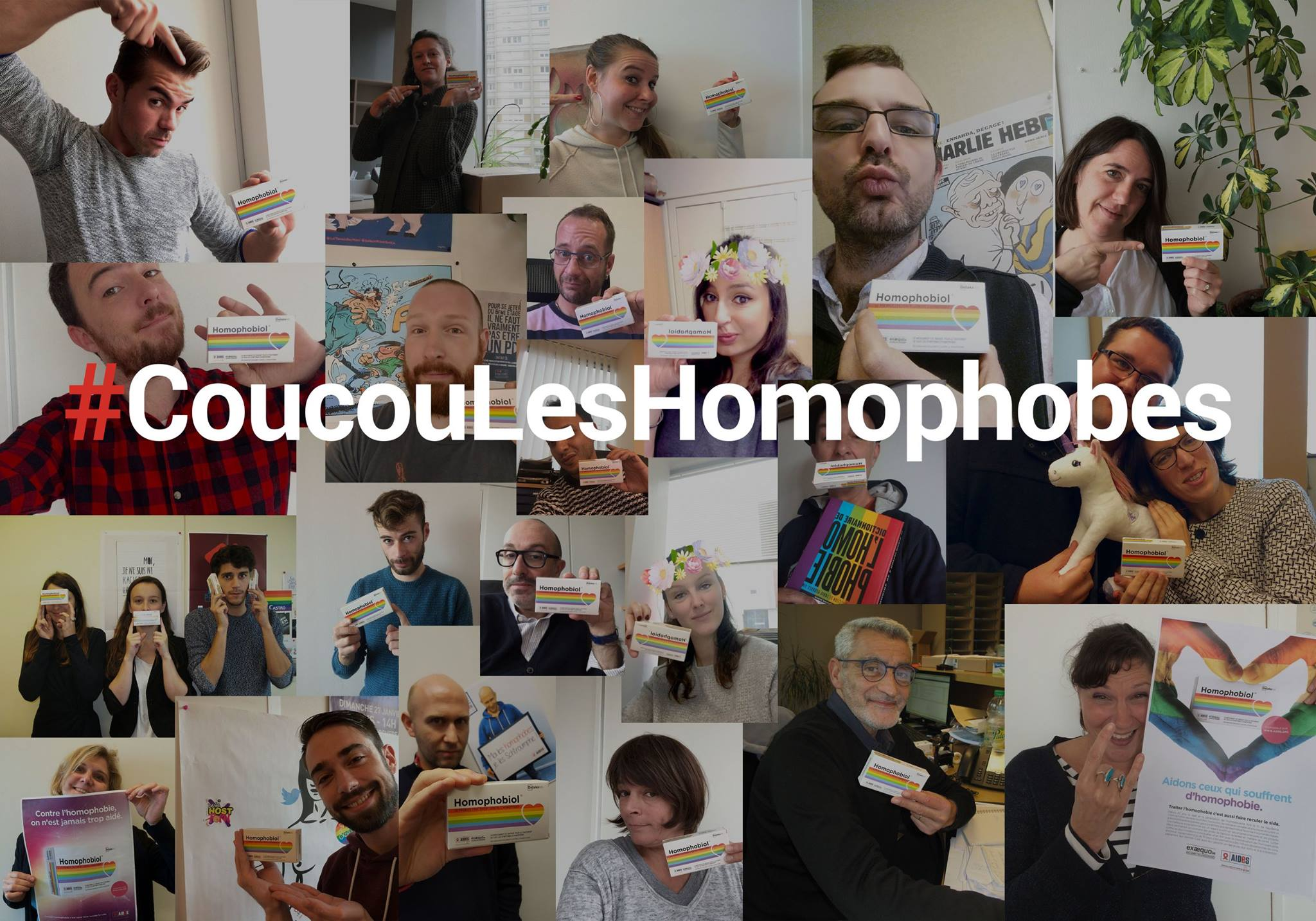 Coucou les homophobes !