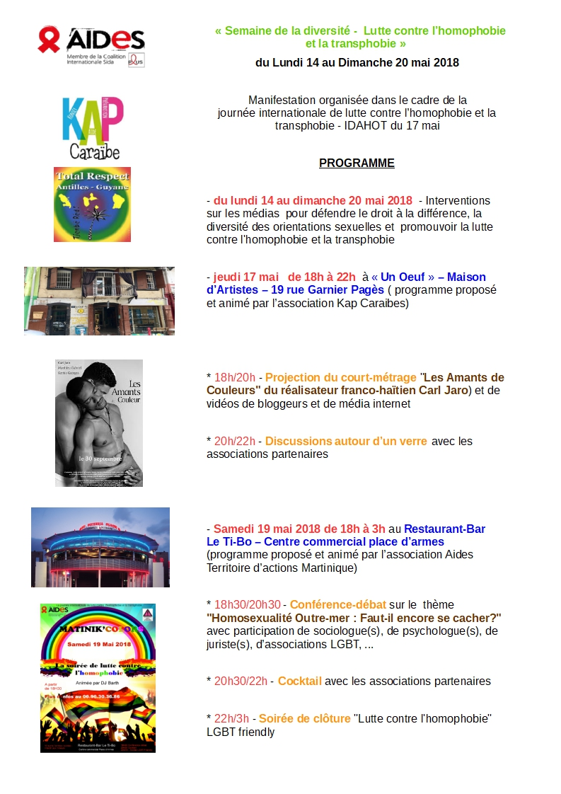 programme martinique idahot