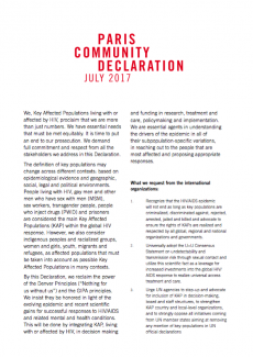 paris community declaration 2017